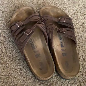 Brown Leather Birkenstock Sandals